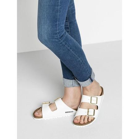 Birkenstock Arizona White Patent Birko-Flor® Sandal - White