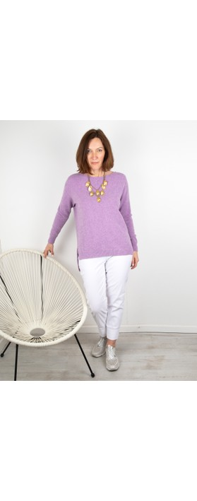 Amazing Woman Maggie Seam Front Supersoft Jumper Lilac