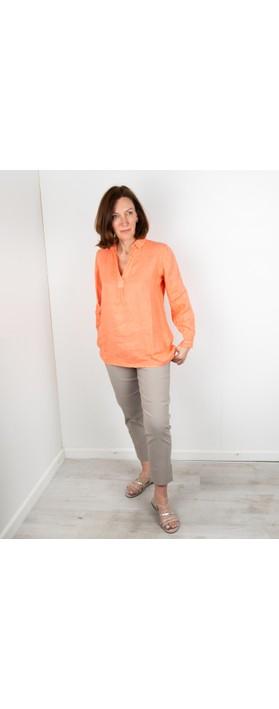 Amazing Woman Bela Long Sleeve Linen Top Papaya