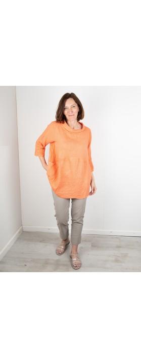 Amazing Woman Lexia Linen Top Papaya