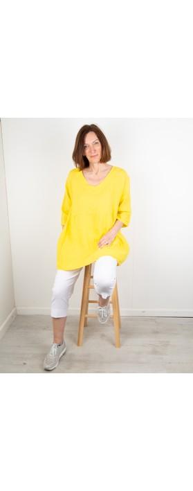 Amazing Woman Tesa V Neck Top Lemon