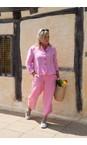 Amazing Woman Pink Confetti Orla Cropped Linen Trouser