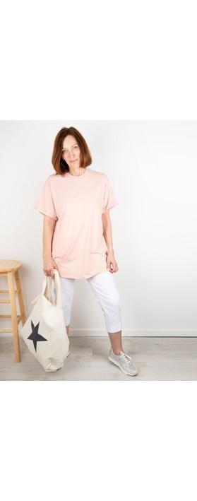Chalk May Plain Organic Cotton Boyfriend Top Dusky Pink