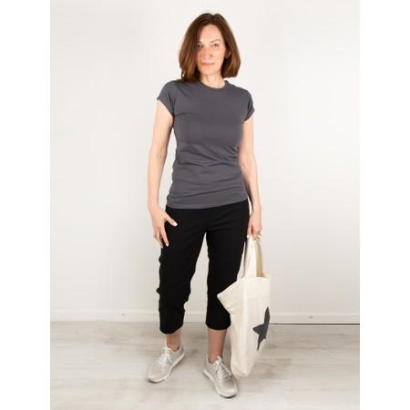 Chalk Louise Plain Organic Jersey Top - Black