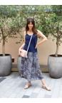 Chalk Navy Lauren Organic Jersey Fitted Vest Top