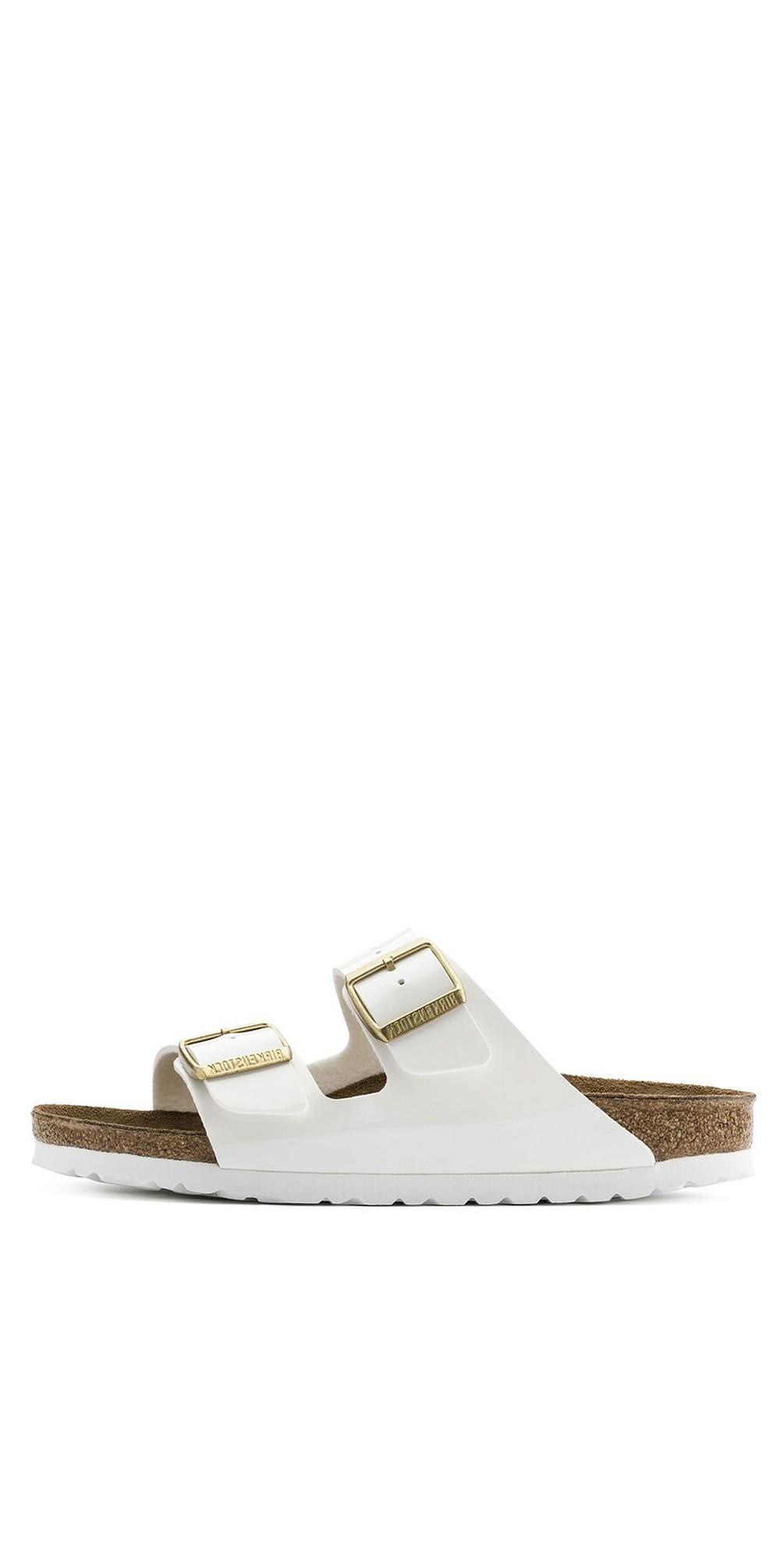 Arizona White Patent Birko-Flor® Sandal main image