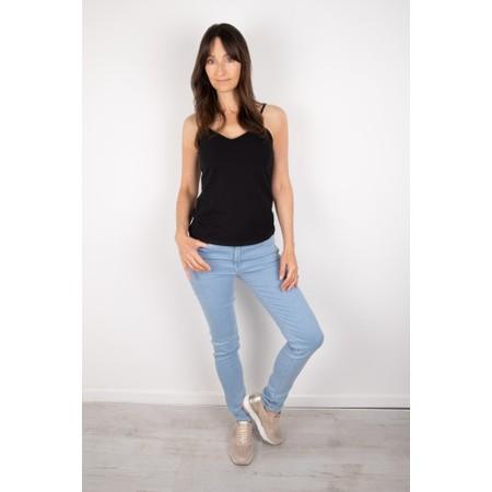 Chalk Lauren Organic Jersey Fitted Vest Top - Black