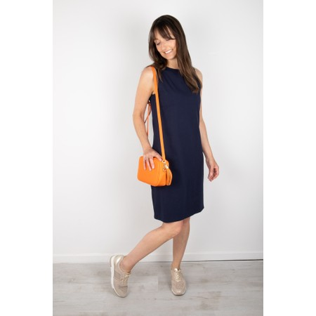 Chalk Claire Organic Jersey Fitted  Dress - Blue