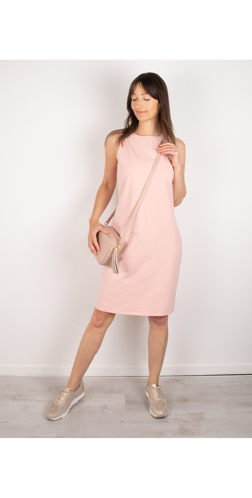 Claire Organic Jersey Fitted  Dress main image