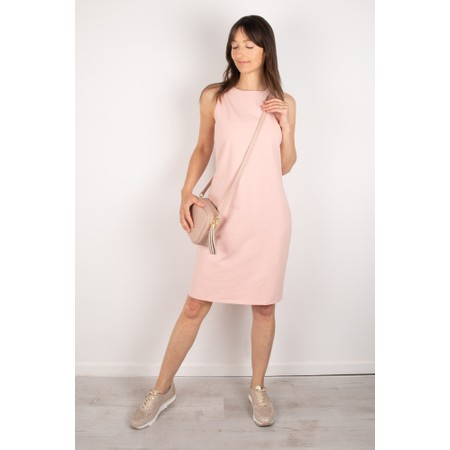Chalk Claire Organic Jersey Fitted  Dress - Pink