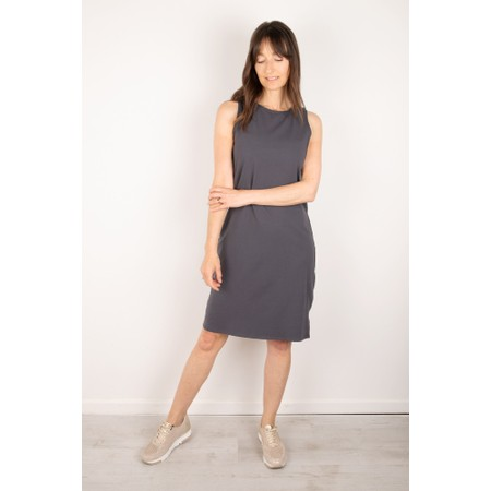 Chalk Claire Organic Jersey Fitted  Dress - Black