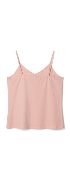Chalk Lauren Organic Jersey Fitted Vest Top Dusky Pink