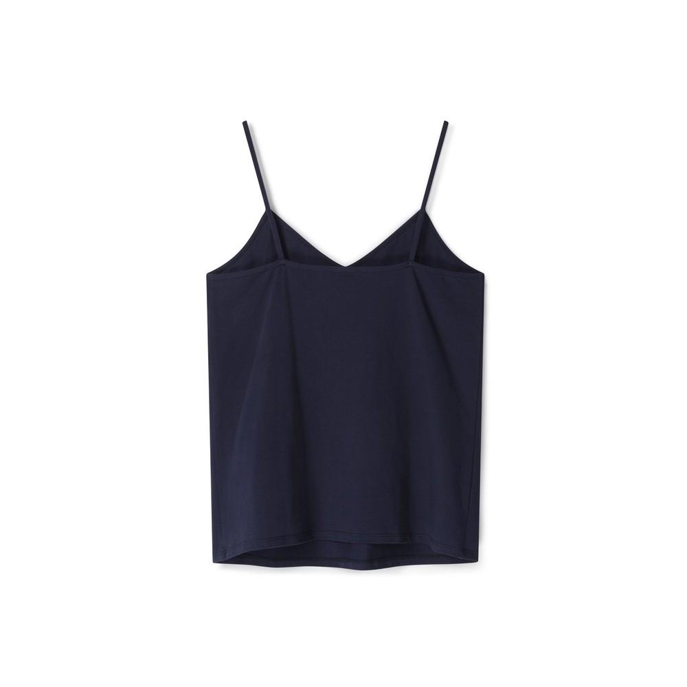 Chalk Lauren Organic Jersey Fitted Vest Top Navy