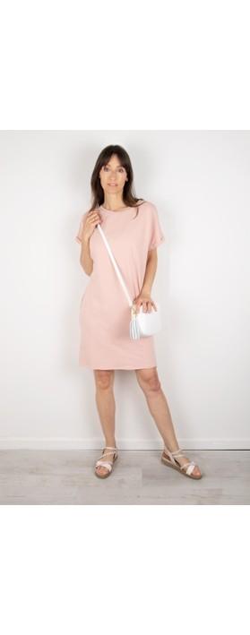 Chalk Alice Organic Jersey Dress Dusky Pink