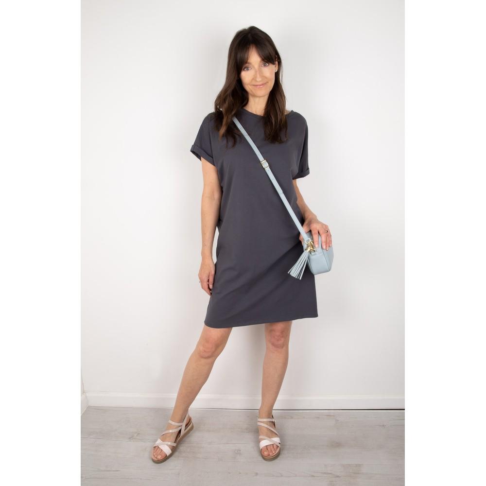 Chalk Alice Organic Jersey Dress Charcoal