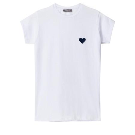 Chalk Louise Heart Top - White