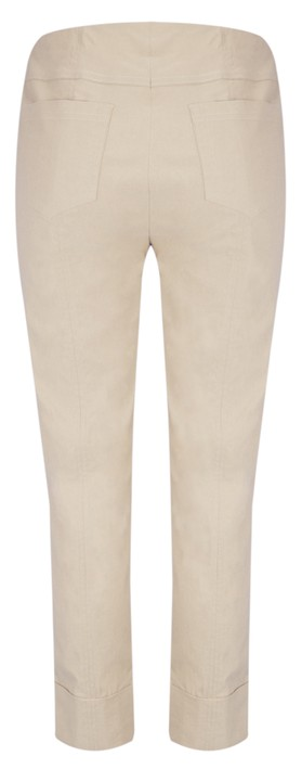 Robell Bella 09 Ankle Length 7/8 Cuff Trouser Beige 14