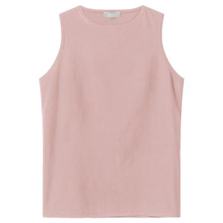 Chalk Megan Organic Cotton Vest - Pink