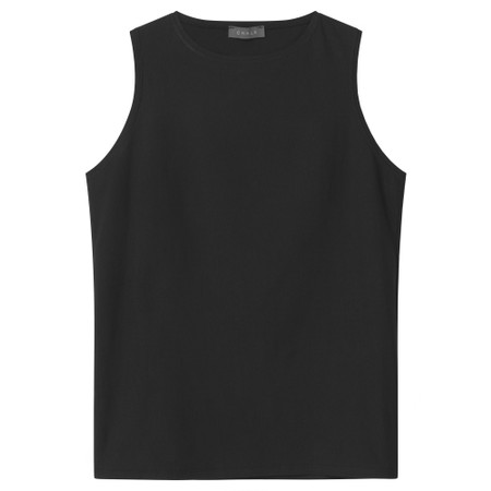 Chalk Megan Organic Cotton Vest - Black