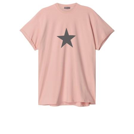 Chalk May Star Boyfriend Top - Pink