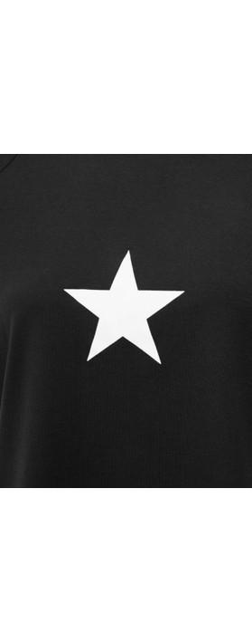 Chalk Darcey Small Star Top Black / White