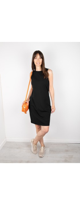 Chalk Claire Organic Jersey Fitted  Dress Black