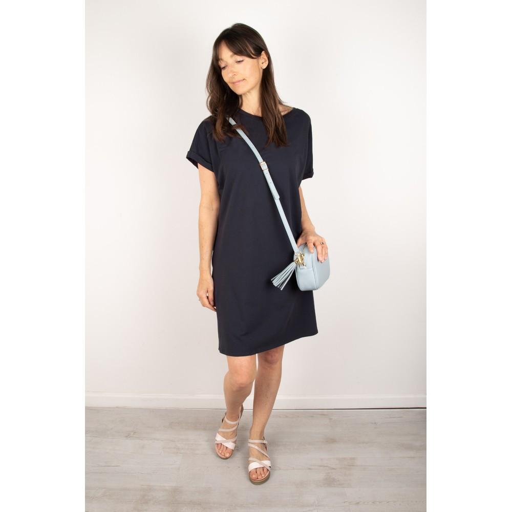 Chalk Alice Organic Jersey Dress Navy