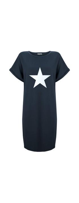 Chalk Alice Star Dress Navy / White
