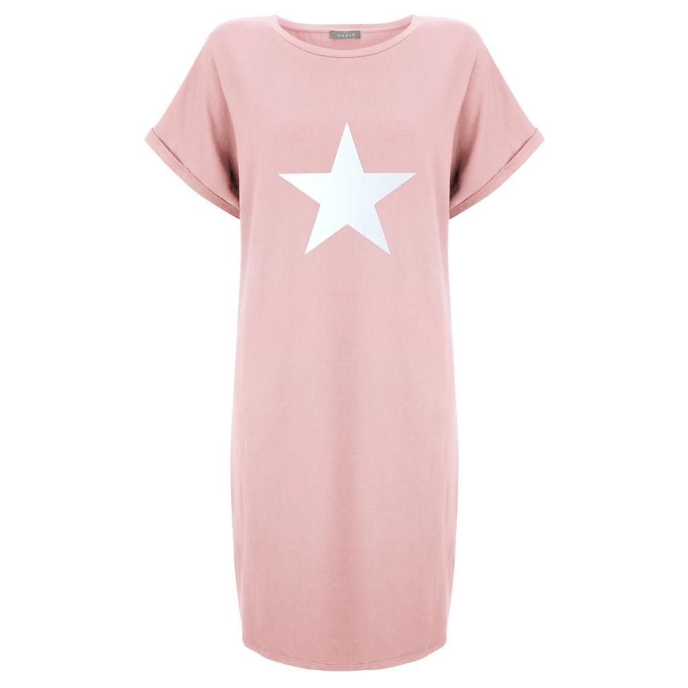 Chalk Alice Star Dress Dusky Pink / White