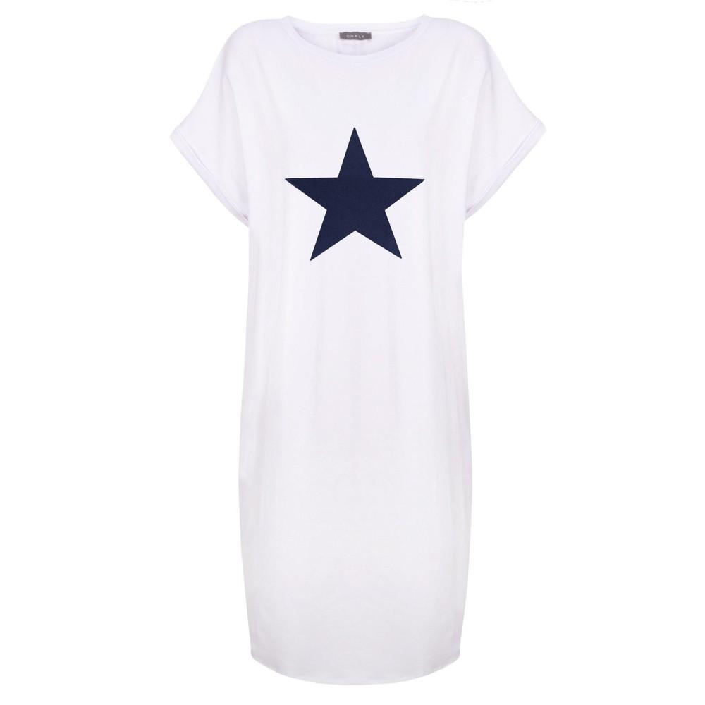 Chalk Alice Star Dress White / Navy