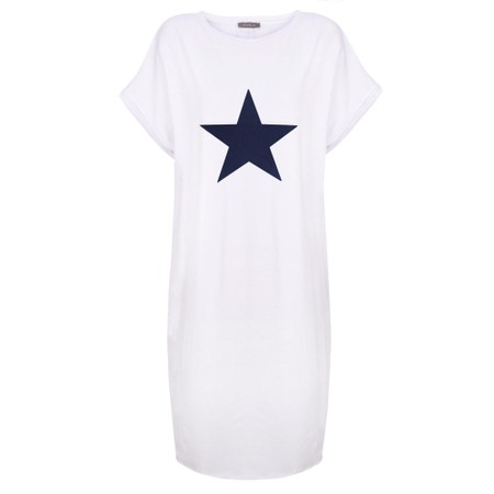 Chalk Alice Star Dress - White