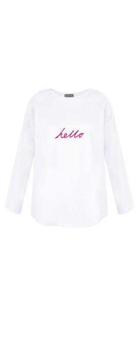 Chalk Tasha Hello Top White / Bright Pink