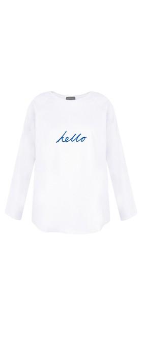 Chalk Tasha Hello Top White / Bright Blue