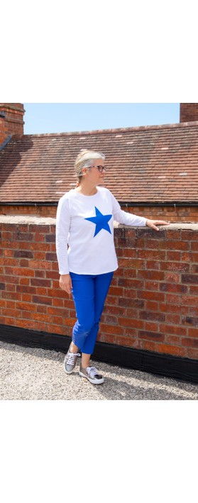 Chalk Tasha Star Top White / Bright Blue