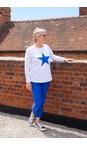 Chalk White / Bright Blue Tasha Star Top