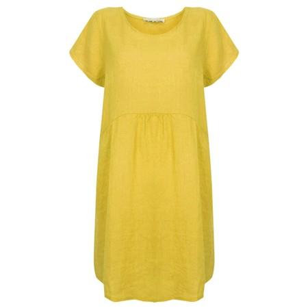 Amazing Woman Lexia Linen Dress  - Yellow