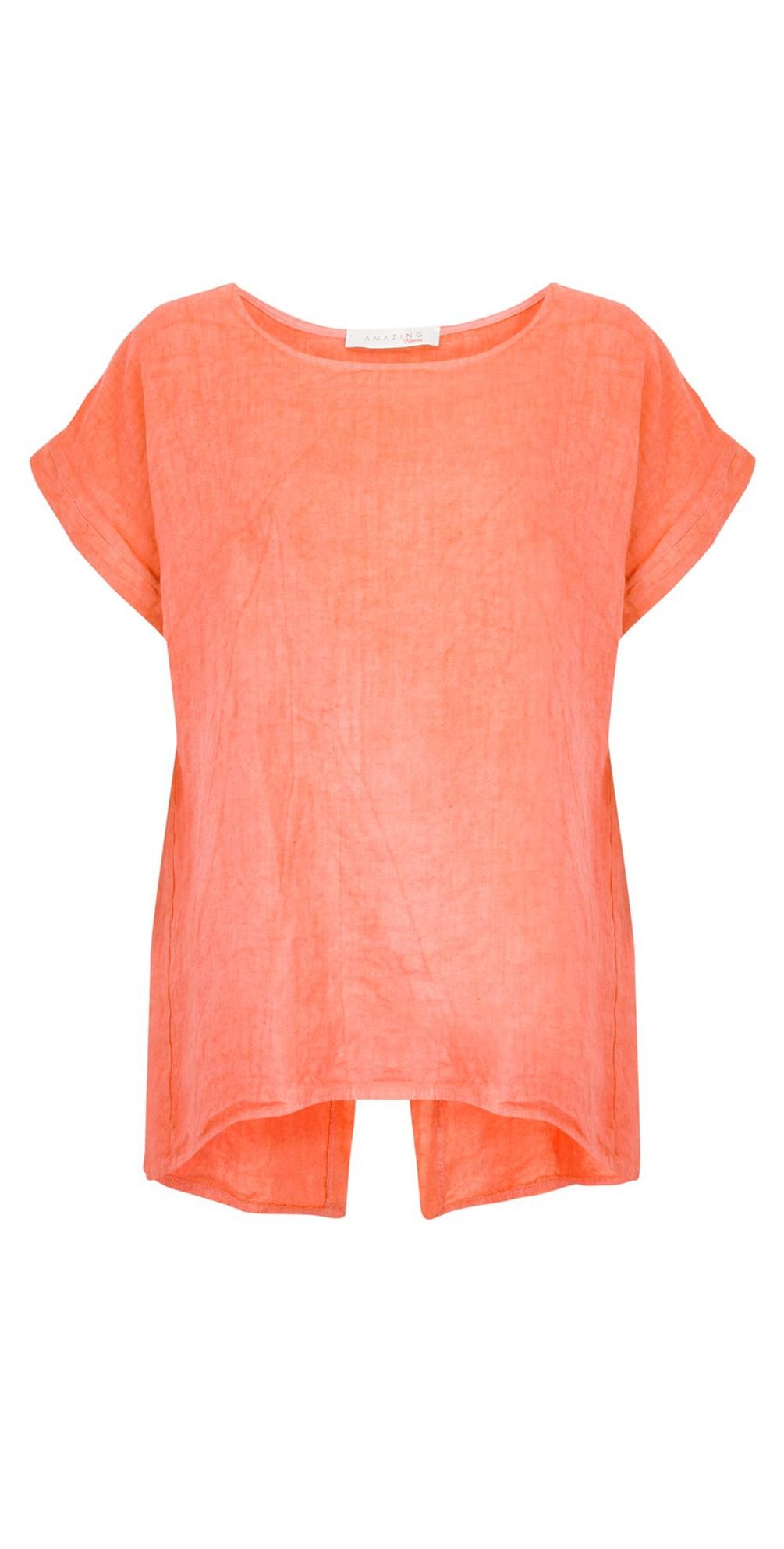 Melia Short Sleeve Linen Top main image