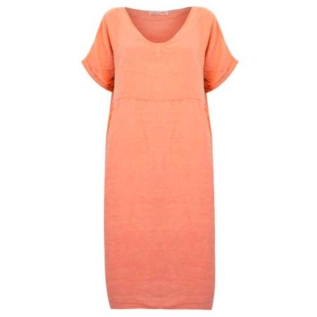 Amazing Woman Tesa Midi Papaya Linen dress - Pink