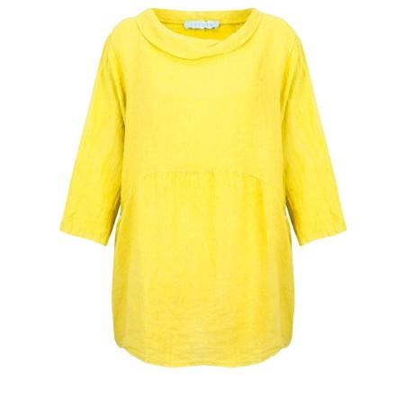 Amazing Woman Lexia Linen Top - Yellow