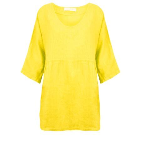 Amazing Woman Tesa V Neck Top - Yellow