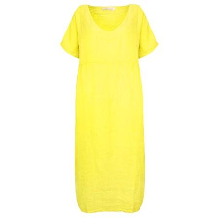 Amazing Woman Tesa Maxi Linen Dress - Yellow