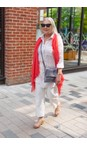 Sandwich Clothing Hot Coral Scarf