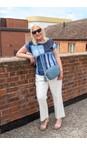 Gemini Label Bags Denim Blue Connie Cross Body Bag