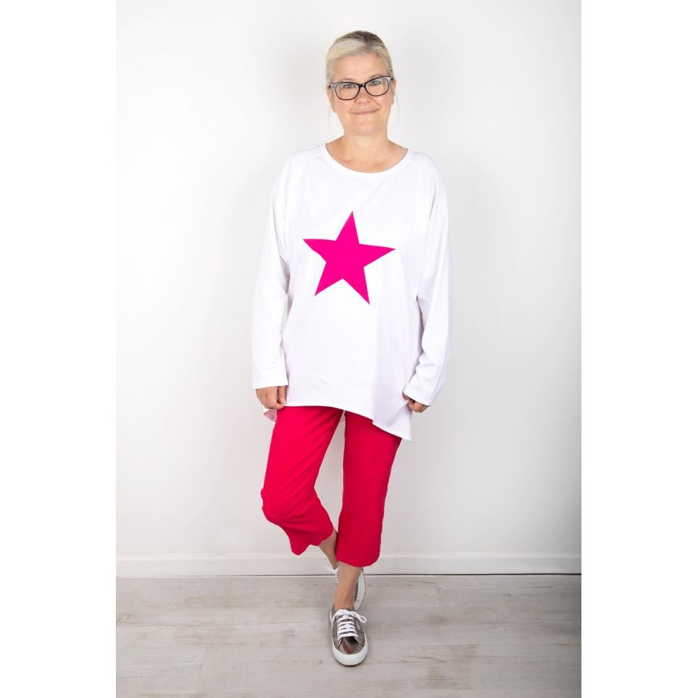 Chalk Robyn Star Top White / Bright Pink