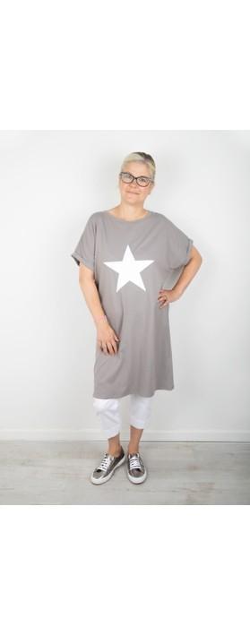 Chalk Alice Star Dress Mouse / White