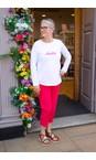 Chalk White / Bright Pink Tasha Hello Top