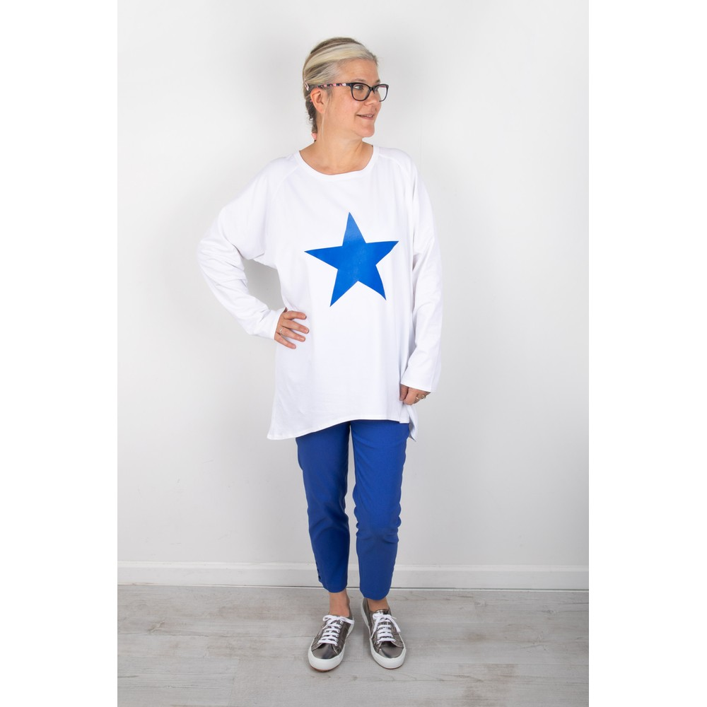 Chalk Robyn Star Top White / Bright Blue
