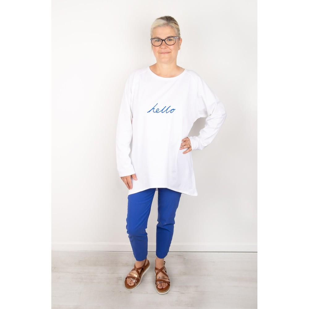 Chalk Robyn Hello Top White / Bright Blue