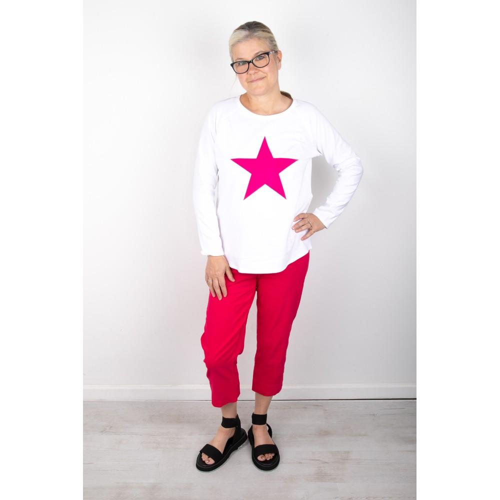 Chalk Tasha Star Top White / Bright Pink