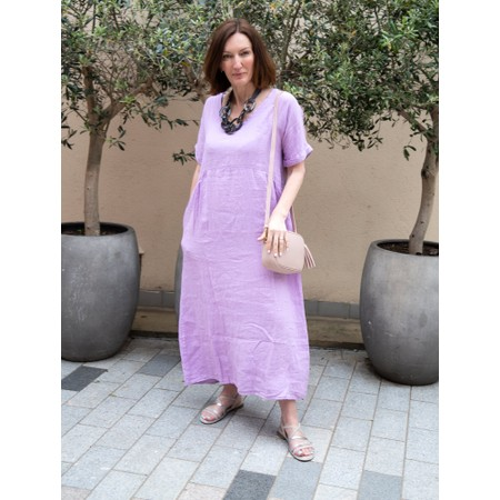 Amazing Woman Tesa Maxi Linen Dress - Purple